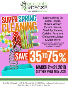 Accents and Decor Super Spring Cleaning