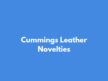 Cummings Leather Novelties